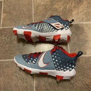 Nike Force Zoom Trout 6 PRM Demin Baseball Cleats